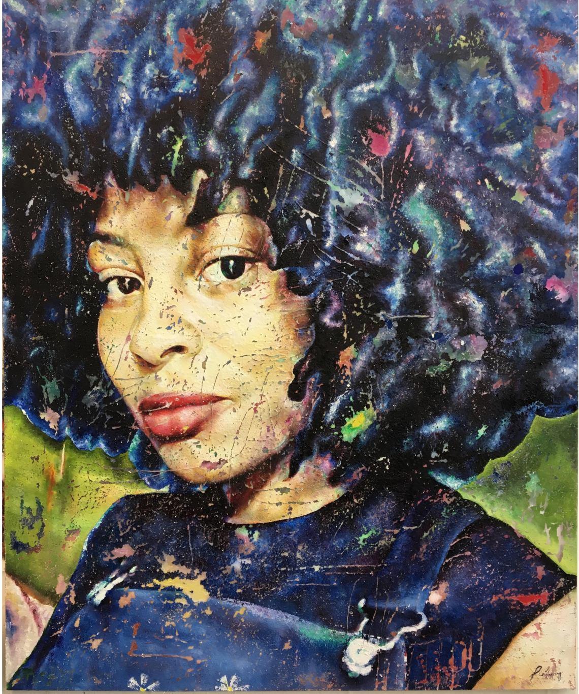 Emily Herring - Joyce - 2017 - Oil and wax on canvas - 183x152cm