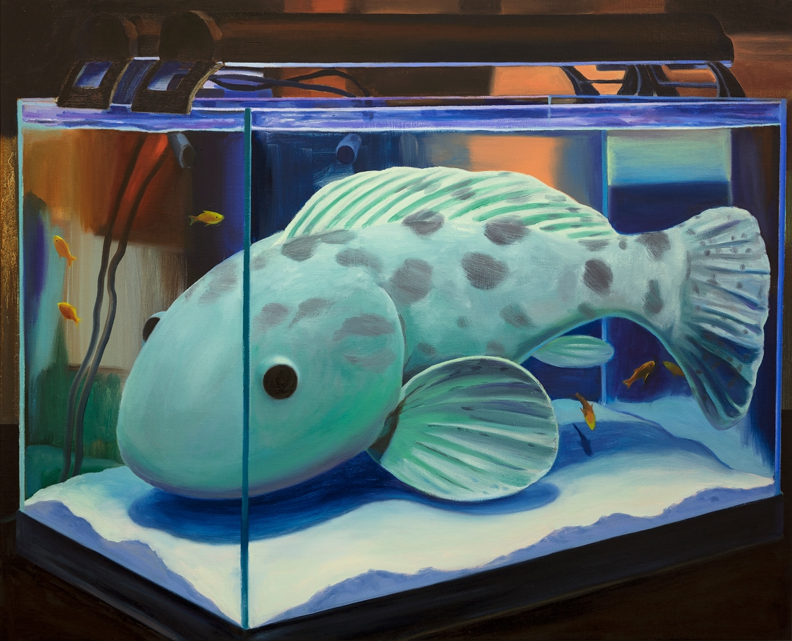 Minyoung Choi - Fish Tank - 2018 - Oil on linen - 86x105cm
