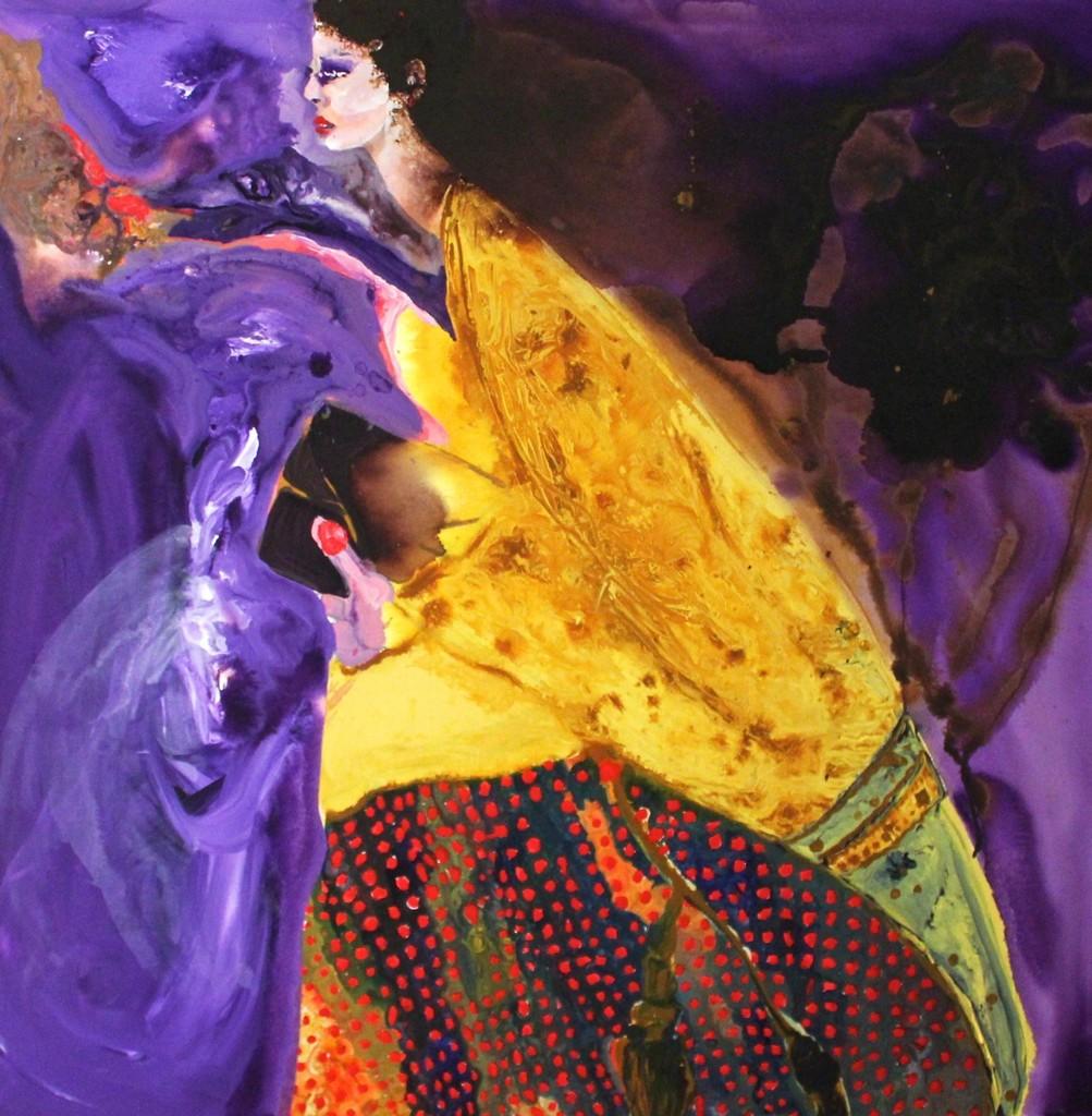 Rhiannon Salisbury - Wayfarer - 2018 - Acrylic on canvas - 100x100cm